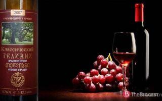Вино Саперави — гордость грузинского виноделия