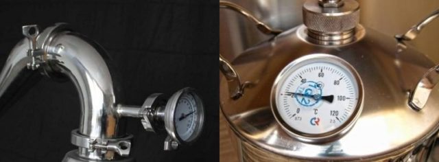 Установка термометра на самогонный аппарат