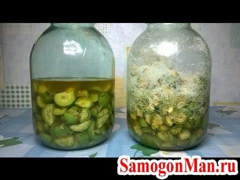 Настойка зеленого ореха на водке
