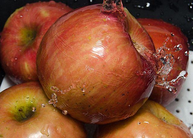 мытые яблокт