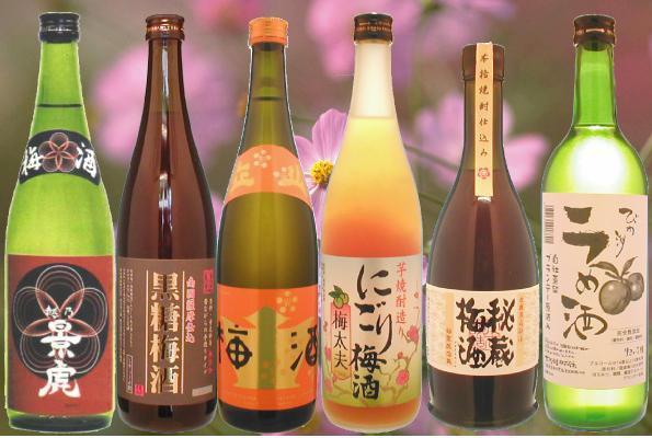 ассортимент китайских вин из сливы