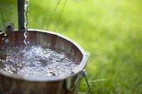 чистая вода в ведре