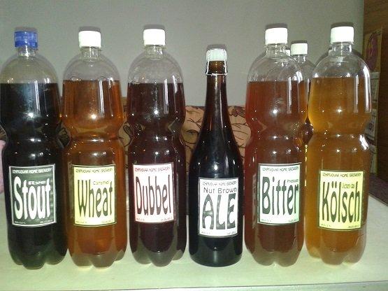 разные сорта приготовленного пива