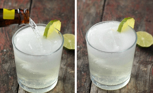 процесс приготовления джин тоника