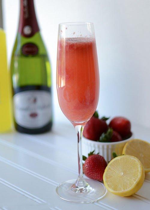 клубничный коктейль с водкой