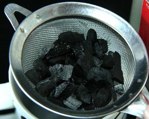 уголь в решете