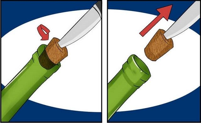 открыть ножом