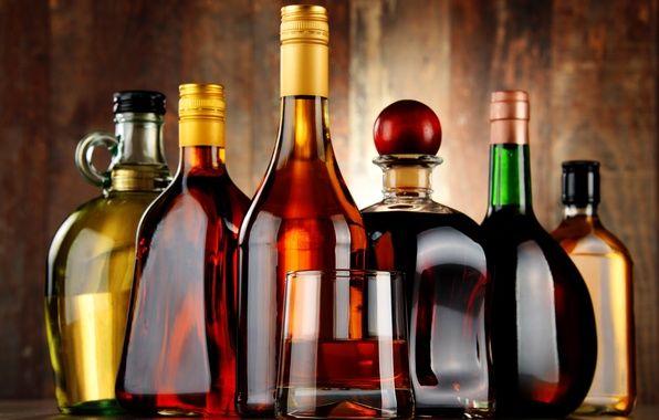 алкогольные напитки разной крепости