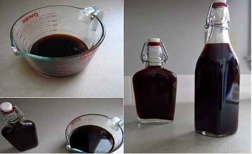 как приготовить черную водку дома