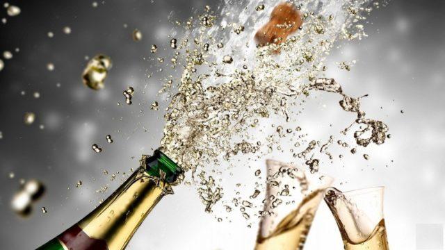 шампанское и брызги