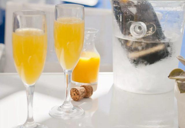 шампанское и сок