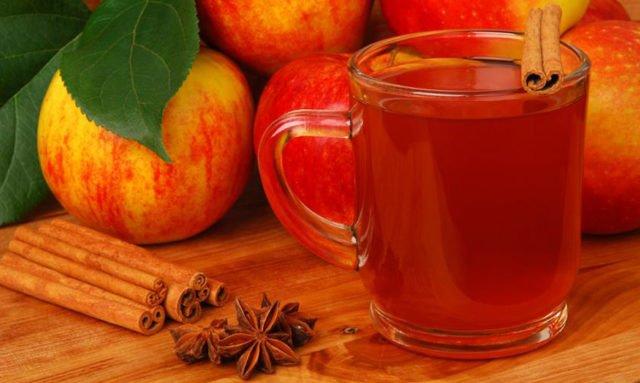 яблочный сок и корица