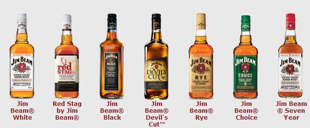 разные виды Джим Бима