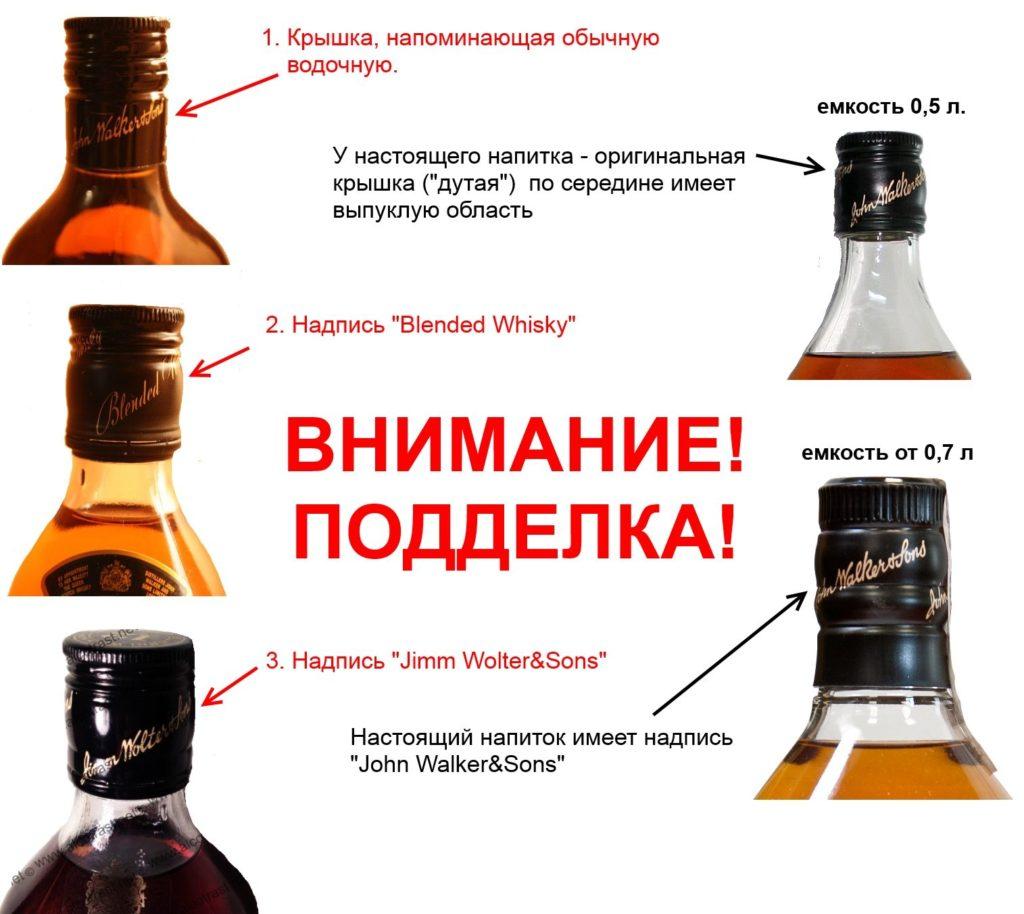 как отличить поддельный виски
