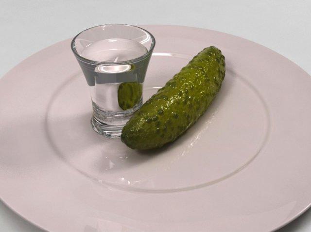 водка с огурцом