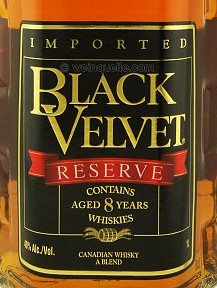 этикетка Black Velvet Reserve