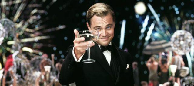 Ди Каприо с мартини