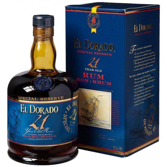 EL DORADO Special Reserve Finest Demerara Rum 21 Years Old