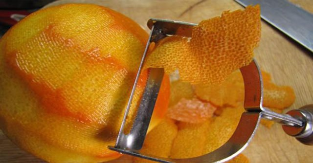 снятие цедры апельсина