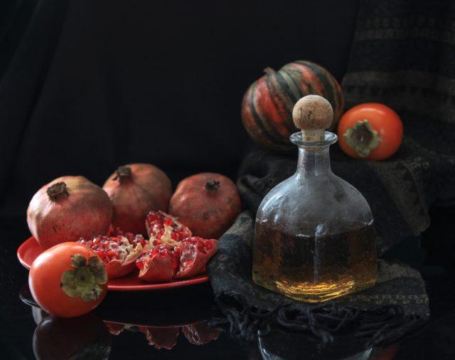 виски и фрукты