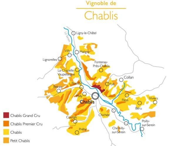 Карта вин Шабли