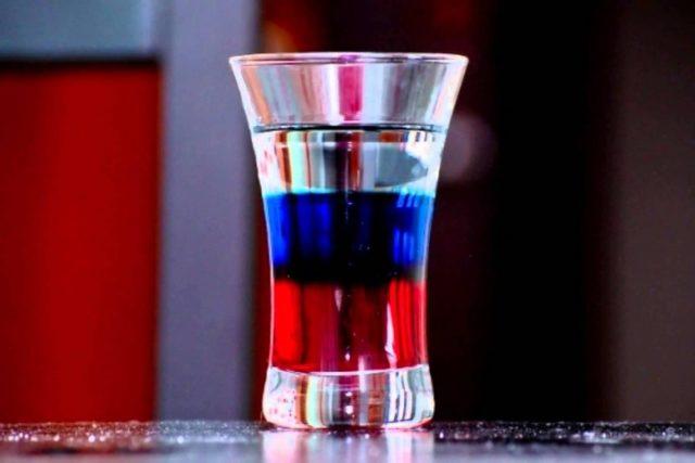 коктейль Русский флаг