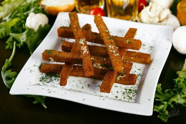 Сухарики с чесноком и орегано