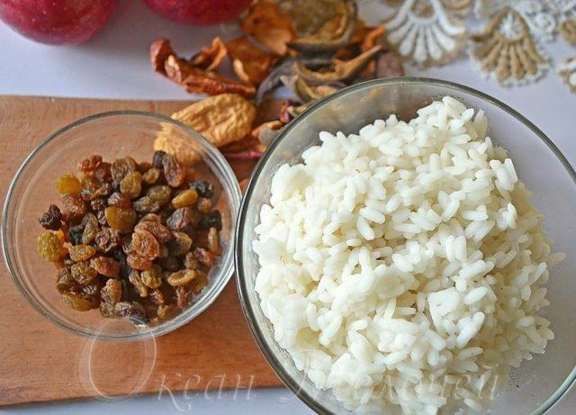 Изюм и рис