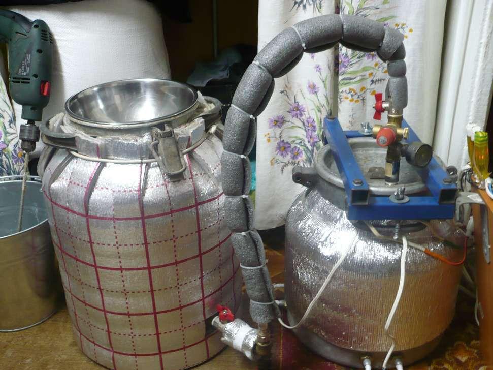 Самогонный аппарат из молочного бидона с тэном самогонный аппарат от сети купить