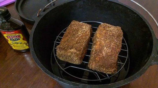 Копчение сала жидким дымом в домашних условиях, опыт кулинаров