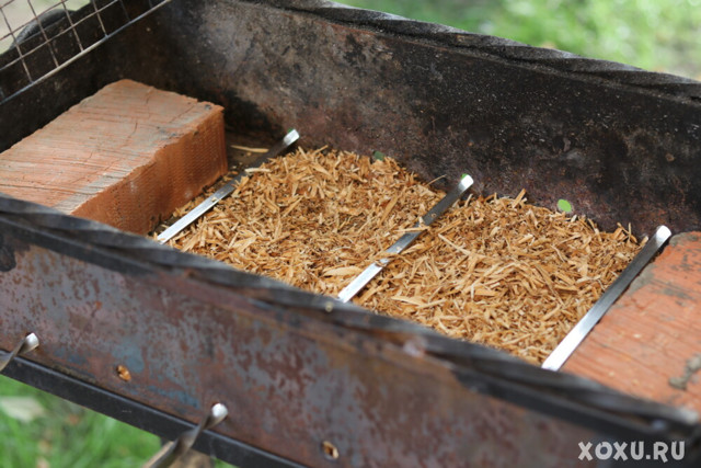 Копченая картошка, горячее копчение в коптильне и на природе
